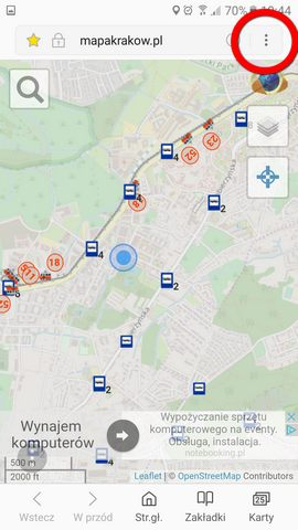 Przystanek Banacha Mapa Krakow Plan Komunikacji Miejskiej Mpk